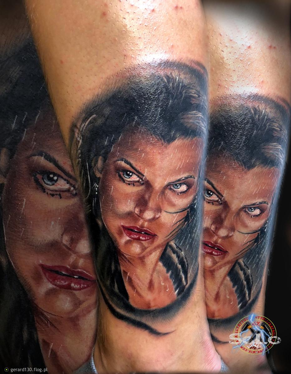 Mila J Portret Tatuaż Mila J Portrait Tattoo Fotoblog