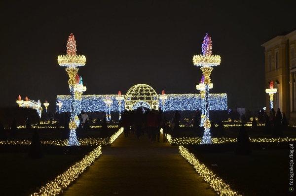 Królewski Ogród światła Wilanów 10112018 Fotoblog